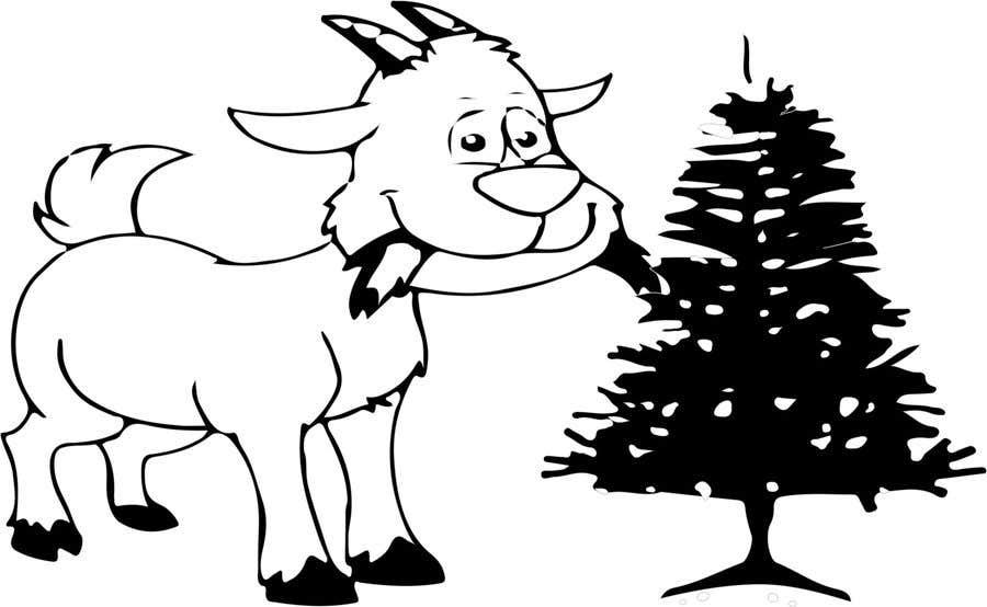 Bài tham dự cuộc thi #                                        3                                      cho                                         Cartoon goat eating christmas lights