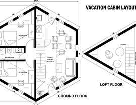 #11 for Vacation Cabin Layout (Floor and Structure) by dhanashree94