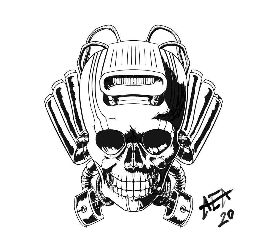 Contest Entry #                                        16                                      for                                         Illustrate a Skull with Pistons or Supercharger