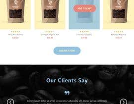 #41 cho landing page design for a coffee and tea online store bởi Alluvion