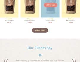 #57 cho landing page design for a coffee and tea online store bởi Alluvion