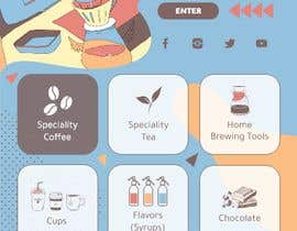 #68 cho landing page design for a coffee and tea online store bởi ClarizaO12