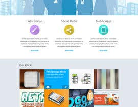 #18 untuk Flat web mockup design oleh deepakinventor
