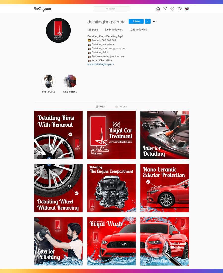 Inscrição nº                                         12                                      do Concurso para                                         Design an Instagram puzzle template + brand kit for a Car Detailing business