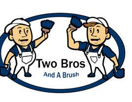 #26 для Logo for Two Bros And A Brush от mostafashedeed