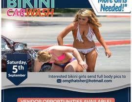 Nro 45 kilpailuun Create a square shaped flyer for a Bikini Car wash käyttäjältä jasmin1652001