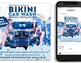 Nro 39 kilpailuun Create a square shaped flyer for a Bikini Car wash käyttäjältä Rafiule
