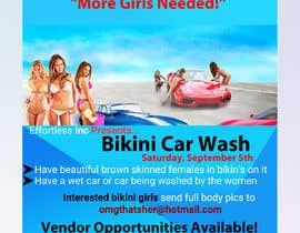 Nro 37 kilpailuun Create a square shaped flyer for a Bikini Car wash käyttäjältä gsajalghosh