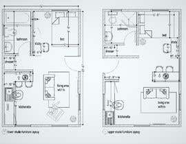 #61 for Design room layout for two 300 sq ft studio apartments by architecttonny