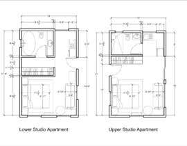 #107 for Design room layout for two 300 sq ft studio apartments by Lekas