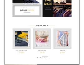 #15 для Bespoke Clothier Homepage Mock-Up от rafiulahmed24