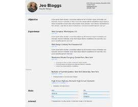 #115 for $15 per single page resume WEBSITE - Submit a quality responsive resume website and I might buy it by ronylancer