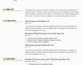 #118 for $15 per single page resume WEBSITE - Submit a quality responsive resume website and I might buy it af ronylancer