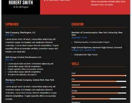 #122 for $15 per single page resume WEBSITE - Submit a quality responsive resume website and I might buy it by ronylancer
