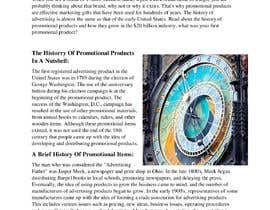 "#4 for Write a Blog ""The History of Promotional Products"" af itxnomanhere"