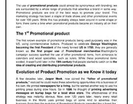"#10 for Write a Blog ""The History of Promotional Products"" af Suryasugano6"
