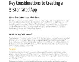 #4 untuk Write an article on App UI & UX Design 101 (pdf) oleh abhiAtFreelancer