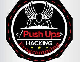 #40 for Design a laptop sticker to show the achievement of a Push-ups challenge, with the target audience software developers/ programmers/hackers. by ZemSolution
