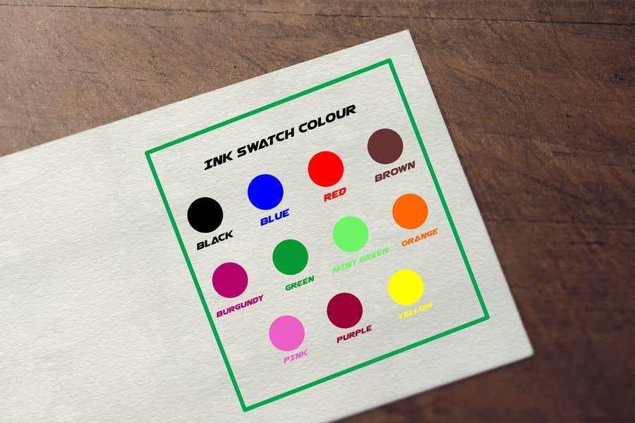Kilpailutyö #                                        98                                      kilpailussa                                         Ink Swatch Color Graphic
