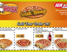 #9 pentru Design a Flyer 1/2 Page in size with Coupons for Pizza Shop de către Daiichirou