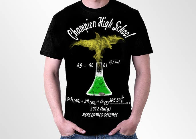 Contest Entry #26 for Design a science themed T-shirt for a Science Olympiad team.