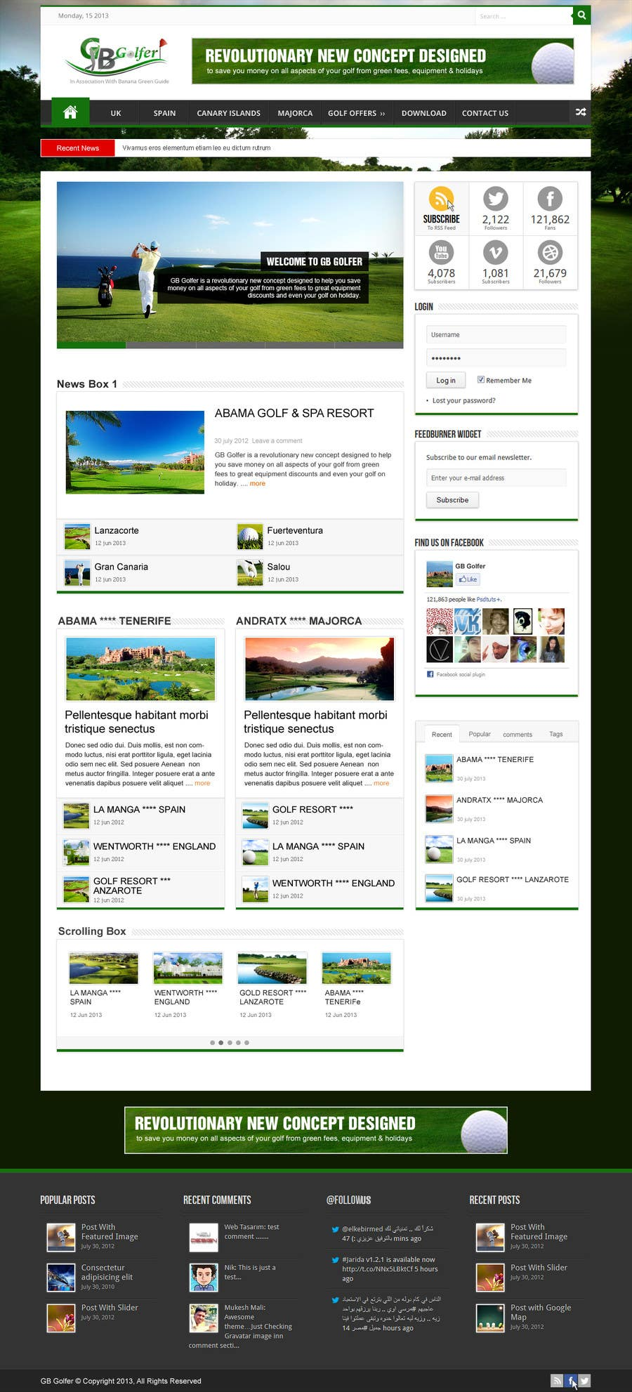 Konkurrenceindlæg #                                        5                                      for                                         Wordpress Theme Design for GB Golfer
