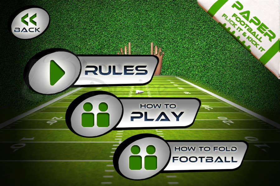 #150 for Graphic Design - Give our Paper Football Game Menus a NEW LOOK! by logodesire