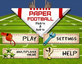 #116 cho Graphic Design - Give our Paper Football Game Menus a NEW LOOK! bởi M33illustrator