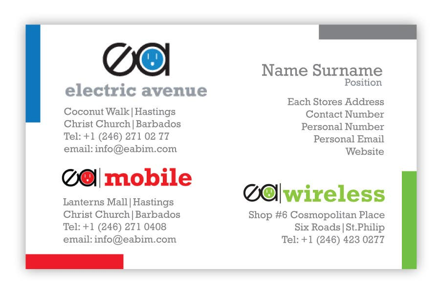 Bài tham dự cuộc thi #                                        6                                      cho                                         Business Card Design for Electronics/Technology Store