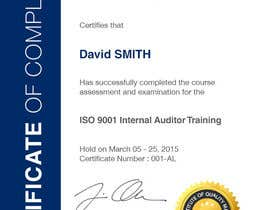 #41 for I need some Graphic Design for training certificate by Miuna