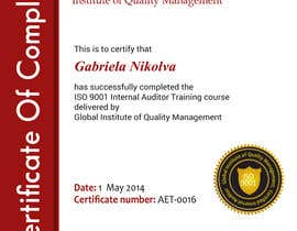 #43 for I need some Graphic Design for training certificate by ashstriker