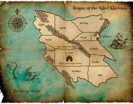 #19 para Design a fantasy map for my novel de sandrasreckovic