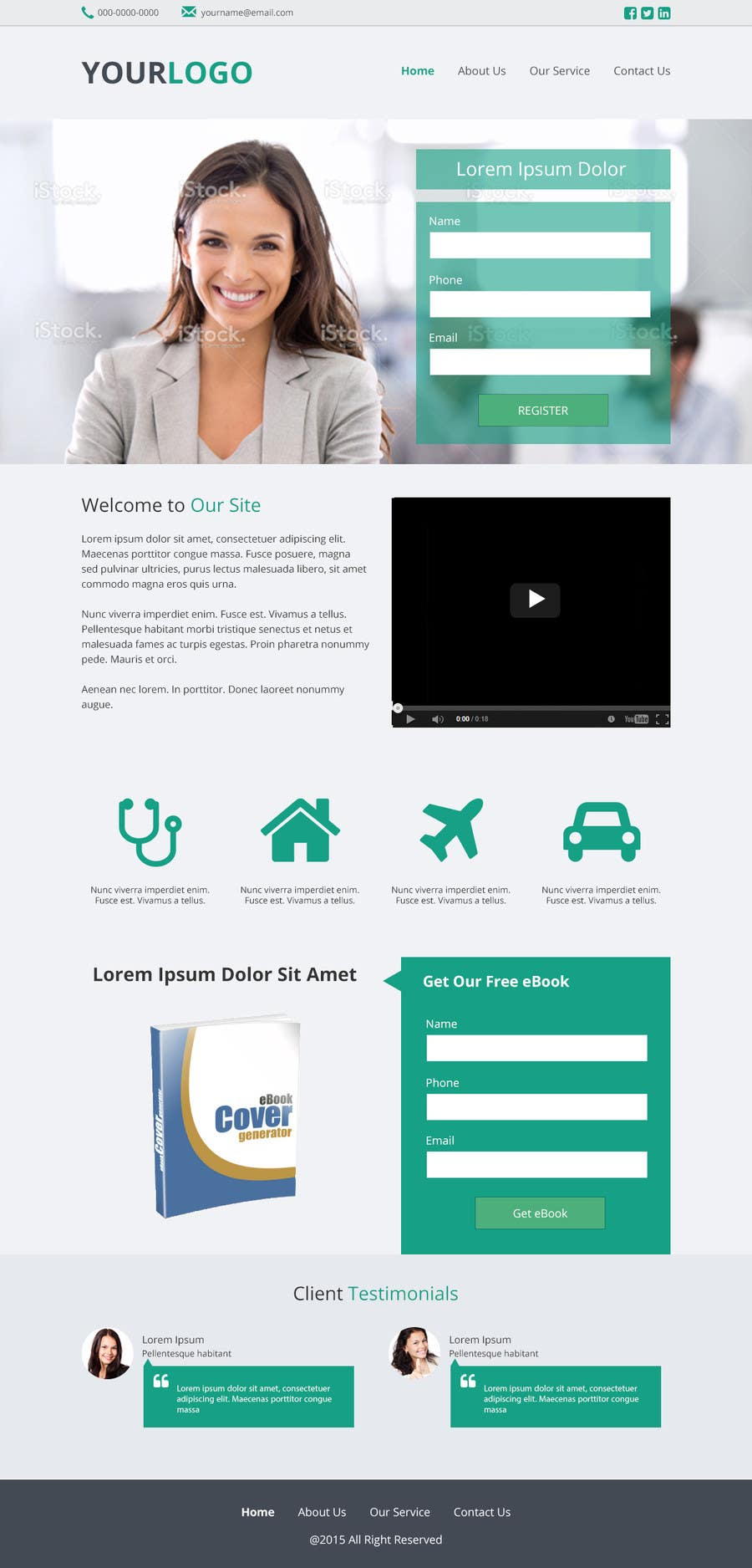 Contest Entry #10 for Design a Website Mockup for Landing Page
