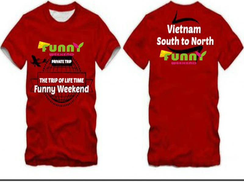 Kilpailutyö #21 kilpailussa Thiết kế T-Shirt for Funny Weekend