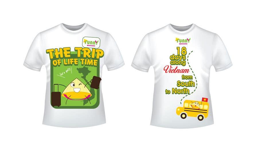 Kilpailutyö #13 kilpailussa Thiết kế T-Shirt for Funny Weekend