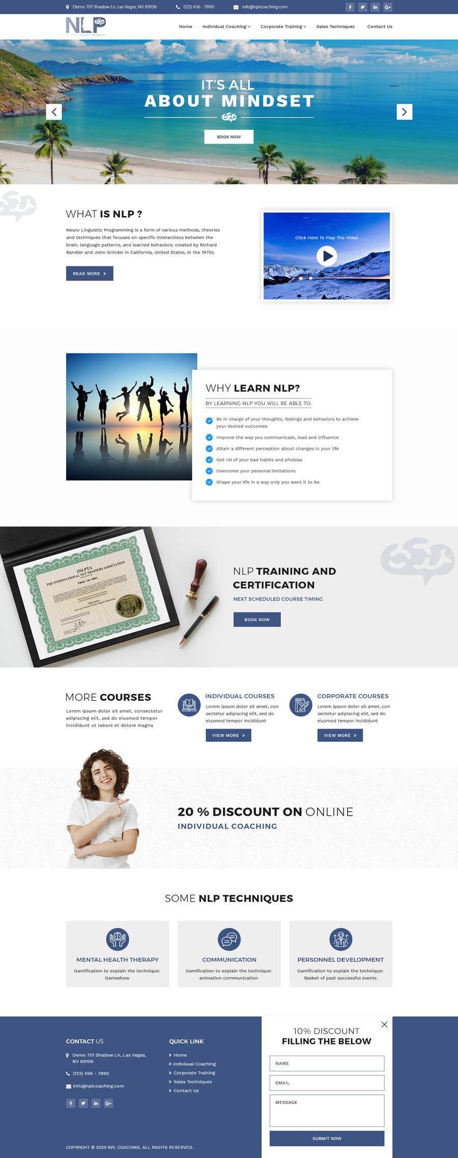 Penyertaan Peraduan #                                        47                                      untuk                                         design and build life coaching website
