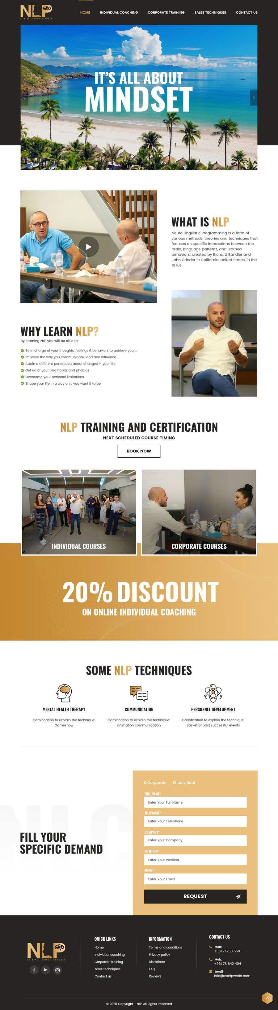 Penyertaan Peraduan #                                        43                                      untuk                                         design and build life coaching website