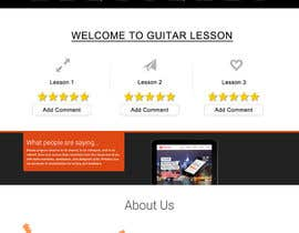 #11 for Design and built Guitarlesson compare website by deepakinventor