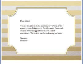 #2 pentru Design an Email Template for an Invitation de către easywebber