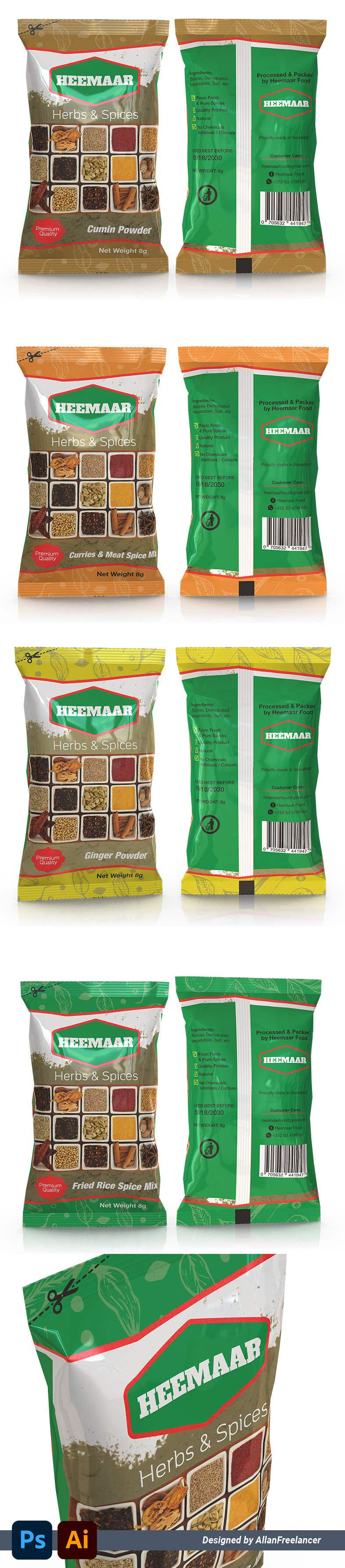 Inscrição nº                                         27                                      do Concurso para                                         Spice Pouch Packaging Design
