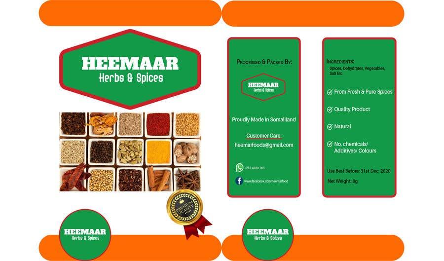 Konkurrenceindlæg #                                        23                                      for                                         Spice Pouch Packaging Design