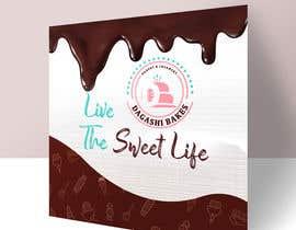 #120 para graphic design for a luxury bakery  27ft wall por malekhossain1000