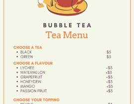 #120 for Menu Bubble tea design af abuobaida168