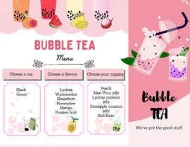 #128 for Menu Bubble tea design af Dekapurion