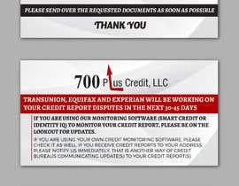 Nro 29 kilpailuun Need (5) individual flyers / graphics made for automatic emails sent to credit repair clients käyttäjältä alakram420