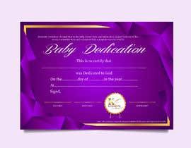 #12 para Baby Dedication Certificate por jaydeepvirani26