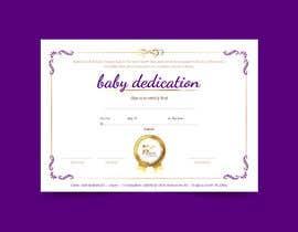 #2 para Baby Dedication Certificate por mpaulagerard