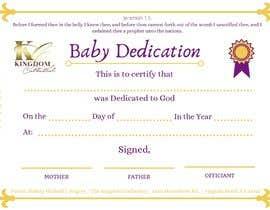 #11 para Baby Dedication Certificate por rudraverma089