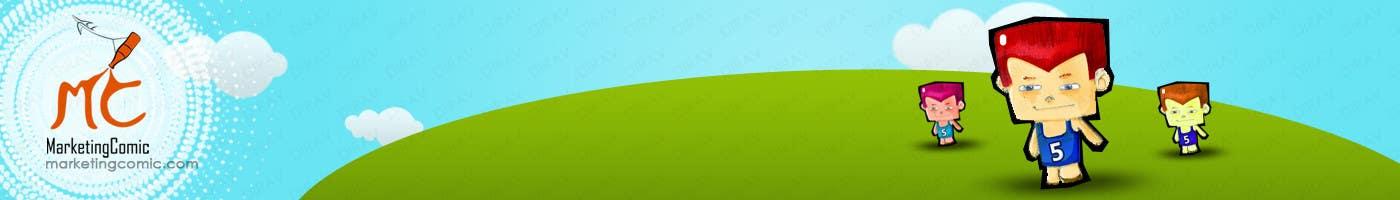 Kilpailutyö #6 kilpailussa Comic/cartoon, Banner Design for my website header