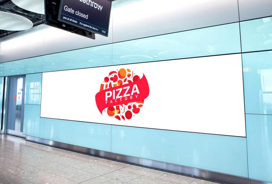 Kilpailutyö #                                        86                                      kilpailussa                                         Branding mockups for Pizza company